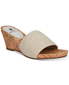 White Mountain Aleah Slide Wedge Sandals
