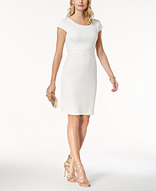 sangria Textured Sheath Dress, Regular & Petite Sizes