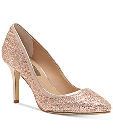 I.N.C. Zitah Pointed Toe Rhinestone Evening Pumps, Created for Macy's