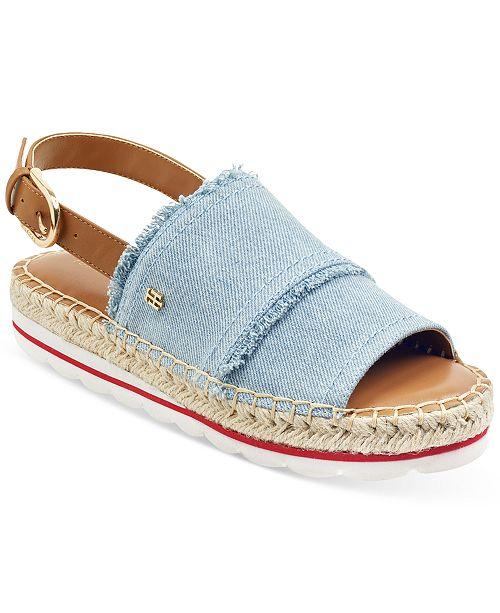 8abceb0770 Tommy Hilfiger Women's Grove Slingback Espadrille Flatform Wedge Sandals