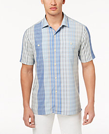 Tommy Bahama Men's Plaidsacola Silk Shirt