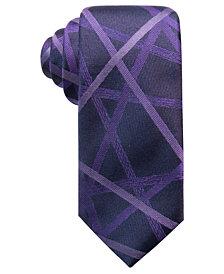 Alfani Men's Geometric Silk Slim Tie, Created for Macy's