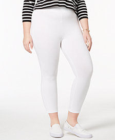 HUE® Women's  Plus Capri Leggings