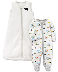 Carter's 2-Pc. Bear Sleep Bag & Footed Coverall Set, Baby Boys