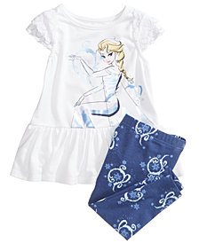 Disney's® Frozen Elsa 2-Pc. Graphic-Print Tunic & Leggings Set, Baby Girls