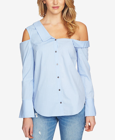 1.STATE Off-The-Shoulder Cutout Shirt