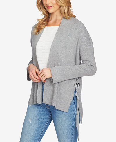 1.STATE Cotton Lace-Up Cardigan