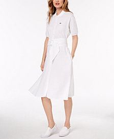 Lacoste Belted Polo Shirtdress