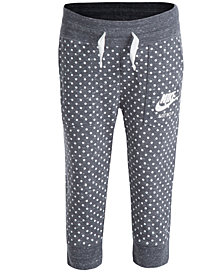 Nike Dot-Print Capri Pants, Little Girls