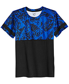 Ideology Colorblocked Splatter-Print T-Shirt, Big Boys, Created for Macy's