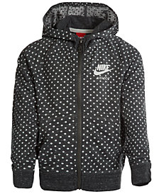 Nike Dot-Print Zip-Up Hoodie, Toddler Girls