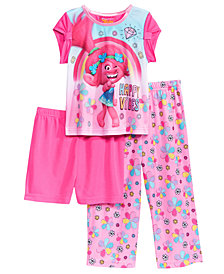DreamWorks Trolls 3-Pc. Happy Vibes Pajama Set, Toddler Girls