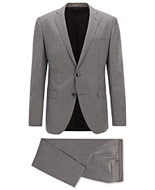 BOSS Men's Extra-Slim Fit Sharkskin Suit