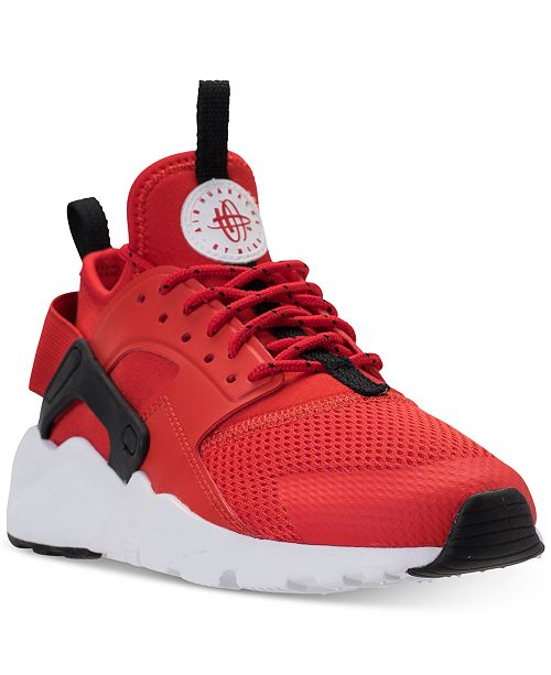 premium selection 94452 e40ea ... Nike Big Boys  Air Huarache Run Ultra Running Sneakers from Finish Line  ...