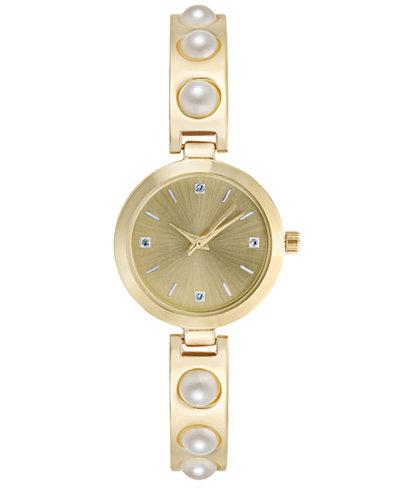 Charter Club Women's Imitation Pearl Bracelet Watch 29mm, Created for Macy's