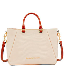 Dooney & Bourke Lizard-Embossed Top-Zip Medium Satchel