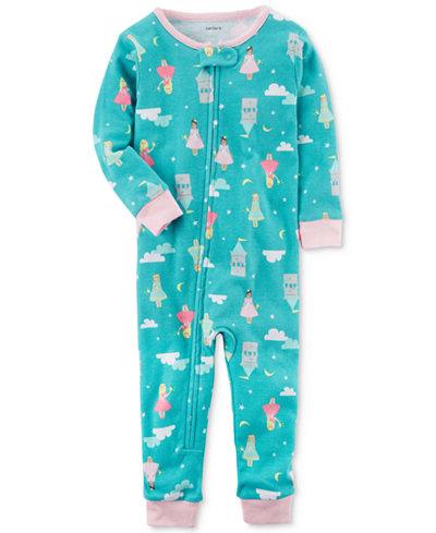 Carter's 1-Pc. Princess-Print Cotton Pajamas, Toddler Girls