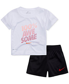 Nike 2-Pc. Awesome-Print Dri-FIT T-Shirt & Shorts Set, Little Boys