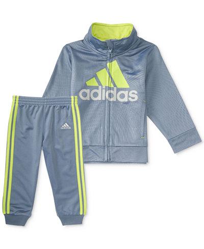 adidas 2-Pc. Amplified Net Embossed Jacket & Pants Set, Little Boys