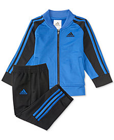 adidas 2-Pc. Short Stop Jacket & Pants Set, Little Boys
