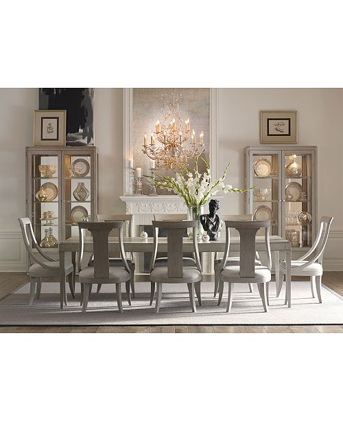Terrific Rachael Ray Cinema Rectangular Expandable Dining Furniture Collection Bralicious Painted Fabric Chair Ideas Braliciousco