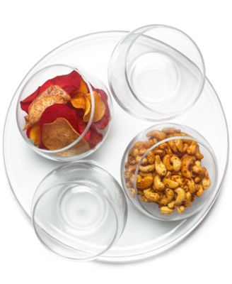 CLOSEOUT! 5-Pc. Entertaining Set With Tilted Bowls, Created for Macy's