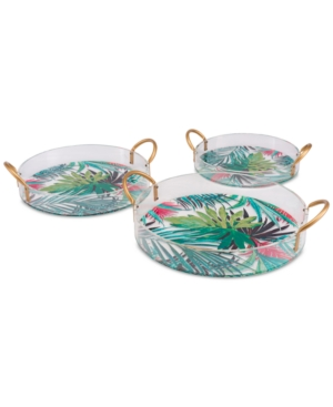 Zuo Tropical Trays, Set of 3