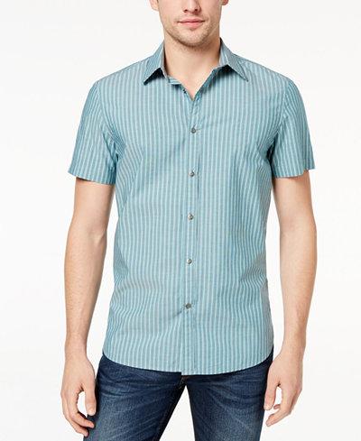 Calvin Klein Jeans Men's Railroad-Stripe Shirt