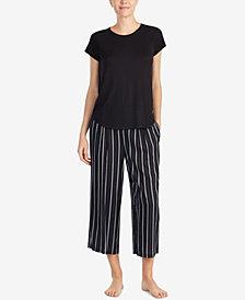 DKNY Solid Pajama Top & Striped Pajama Pants Sleep Separates