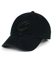 '47 Brand Cleveland Cavaliers Black on Black CLEAN UP Cap