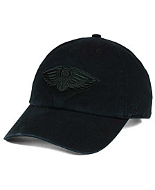 '47 Brand New Orleans Pelicans Black on Black CLEAN UP Cap