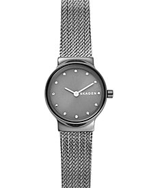 Skagen Women's Freja Gray Stainless Steel Mesh Bracelet Watch 26mm