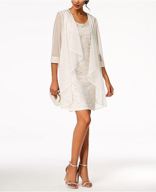 0ea3e3a503a R   M Richards Embellished Lace Sheath Dress   Jacket   Reviews ...