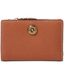 Lauren Ralph Lauren Compact Pebbled Leather Wallet