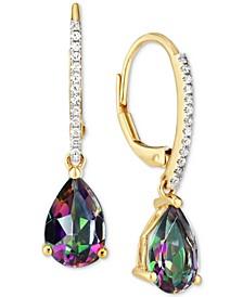Mystic Topaz (2-1/2 ct. t.w.) & Diamond (1/10 ct. t.w.) Drop Earrings in 14k Gold