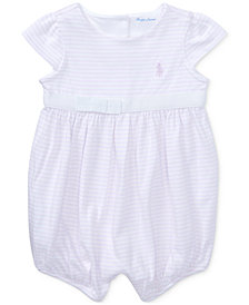 Ralph Lauren Cotton Romper, Baby Girls