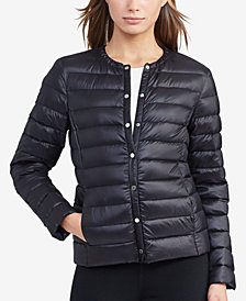 Lauren Ralph Lauren Snap Front Packable Down Coat