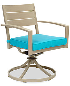 Beach House Outdoor Swivel Rocker, with Sunbrella® Cushions, Created for Macy's