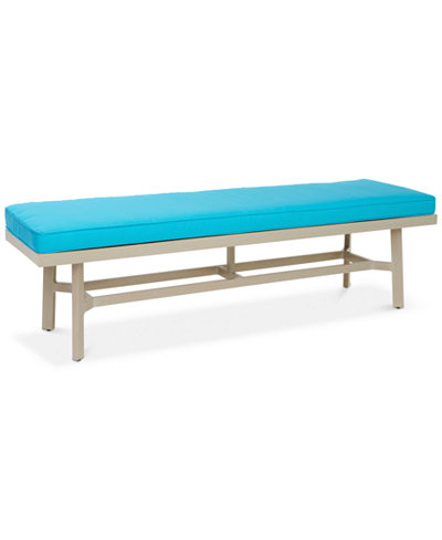 Beach House Outdoor Dining Bench, with Sunbrella® fabric, Created for Macy's