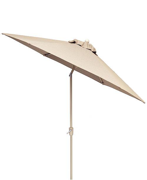 Furniture CLOSEOUT! Beach House Outdoor 9' Auto-Tilt Umbrella with Sunbrella® Fabric, Created For Macy's