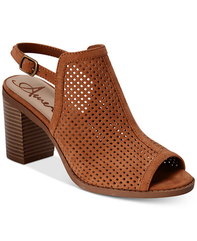 American Rag Despina Perforated Slingback Sandals, Created for Macy's
