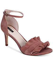 Alfani Women's Grayy Ruffle Dress Sandals, Created for Macy's