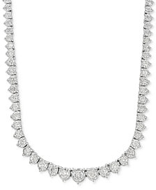 "Diamond Collar 17.5"" Necklace (3 ct. t.w.) in 14k White Gold"