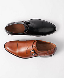 Johnston & Murphy Men's Hernden Single Monk Cap-Toe Loafers