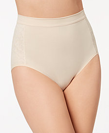 Maidenform Firm Foundations Firm-Control High-Waist Lace-Panel  Brief DM1028