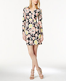 French Connection Floral-Print Faux-Wrap Dress