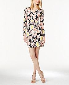 French Connection Floral-Print Faux-Wrap Dress