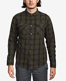 RVCA Men's Treets Plaid Button-Down Shirt