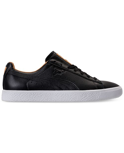 detailed look adda5 8c2e3 Puma Women's Clyde Core Leather Casual Sneakers from Finish ...