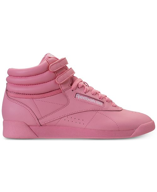 77cbb4071dbc06 ... Reebok Women s Freestyle High Top Casual Sneakers from Finish ...